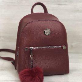 рюкзак Боннита с пушком бордового цвета