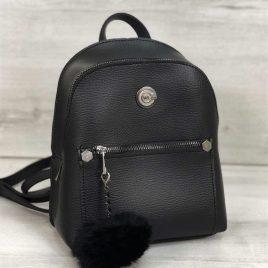 Рюкзак Боннита с пушком черного цвета