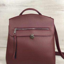 сумка-рюкзак Дэбра бордового цвета