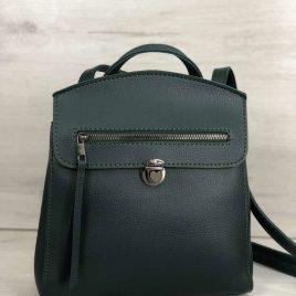 Зеленый рюкзак трансформер Дэнис сумка-рюкзак