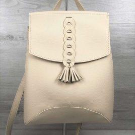 сумка-рюкзак Брида бежевого цвета