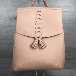 сумка-рюкзак Брида пудрового цвета