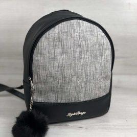 Рюкзак Мэри черный с серой вставкой