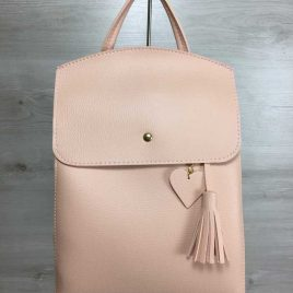сумка-рюкзак Харди пудрового цвета