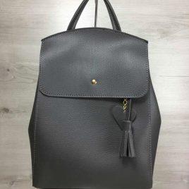 сумка-рюкзак Харди серого цвета