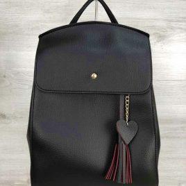 Сумка-рюкзак Харди черного цвета