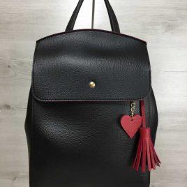Сумка-рюкзак Харди черного с красным цвета