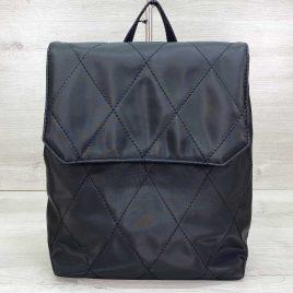 Городской стеганый черный рюкзак трансформер непромокаемый