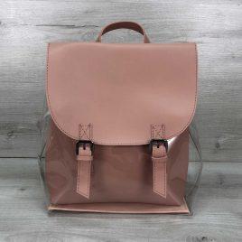 Силиконовый рюкзак с косметичкой пудра