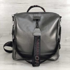 Cумка-рюкзак Angely металлик