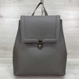 Классический сумка-рюкзак трансформер Луи серый