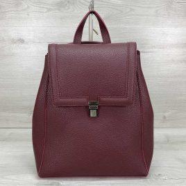 Классический сумка-рюкзак трансформер Луи бордовый