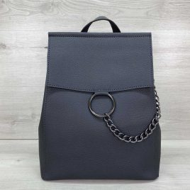 Сумка-рюкзак трансформер с кольцом Марио графитовый