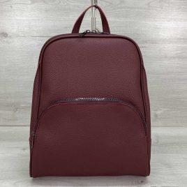 Женский классический рюкзак Дин бордовый