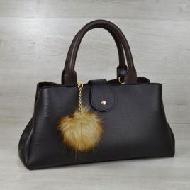 сумка Аманда черная с коричневым