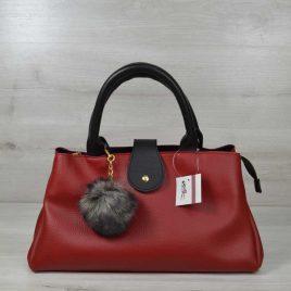 сумка Аманда красная с черным