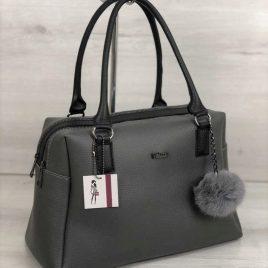 женская сумка Адель серого цвета