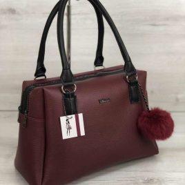 женская сумка Адель бордового цвета