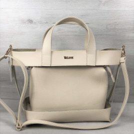 2в1 сумка Арина бежевого цвета
