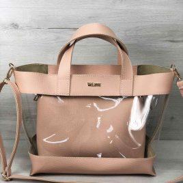 2в1 сумка Арина пудрового цвета