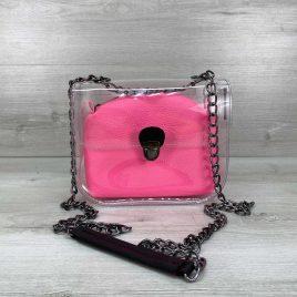 2в1 сумка Сильвия силиконовая с розовой косметичкой
