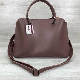 Женская сумка Илая цвет темная пудра