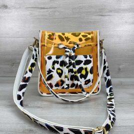 Cумка Manon оранжевый силикон леопард