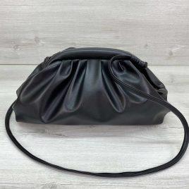 Сумка женская в стиле Bottega Veneta черная премиум качество