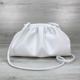 Сумка женская в стиле Bottega Veneta белая премиум качество