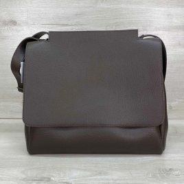 Женская коричневая сумка Джед наплечный мессенджер