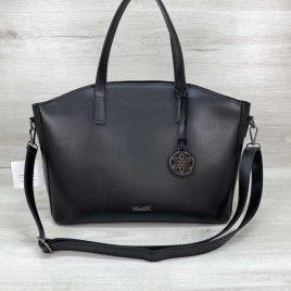 Женская классическая сумка-шоппер Сью черного цвета
