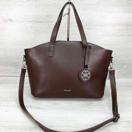 Женская классическая сумка-шоппер Сью коричневого цвета
