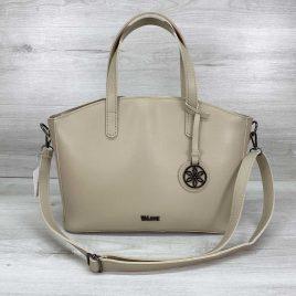 Женская классическая сумка-шоппер Сью бежевого цвета
