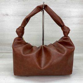 Женская рыжая сумка Круассан