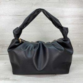 Женская черная сумка Круассан