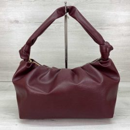 Женская бордовая сумка Круассан