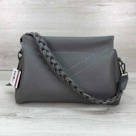 Женская сумка клатч Paris серая