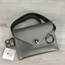 Женская сумка на пояс Perl цвет металлик