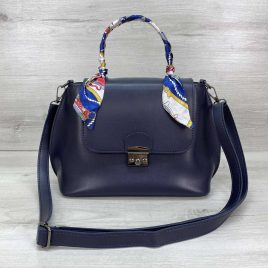 Женская сумка клатч Лиам синего цвета