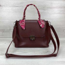 Женская сумка клатч Лиам бордового цвета