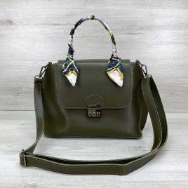 Женская сумка клатч Лиам оливкового цвета