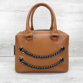 Женская рыжая сумка Jean саквояж среднего размера