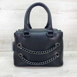 Женская черная сумка Jean саквояж среднего размера