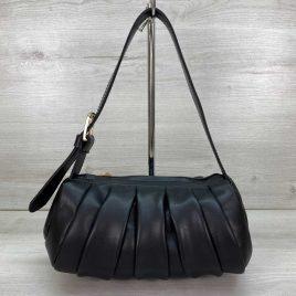 Женская черная сумка со складками Руди