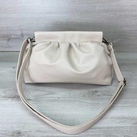Женская молочная сумка пельмень в стиле Bottega мягкий пауч клатч