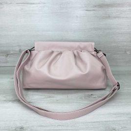 Женская пудровая сумка пельмень в стиле Bottega мягкий пауч клатч