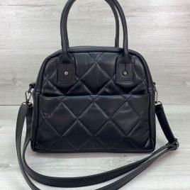 Женская черная сумка Нэнси повседневный стеганый саквояж