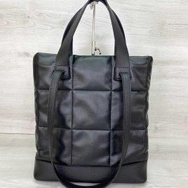Женская черная сумка Бруки стеганая сумка с двумя ручками