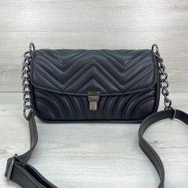 Женская черная сумка Джуди стеганый клатч
