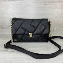 Женская черная сумка Паркер стеганый клатч